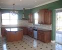 kitchen tile floor and backsplash